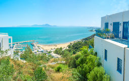 The coast of Sidi Bou Said Stock Photography