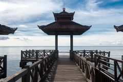 The coast of singaraja. In the north of bali Royalty Free Stock Photo