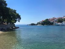 The coast of Skiathos stock images