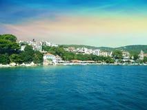 Coast of Skiathos town. Skiathos island, Sporades archipelago. G. Reece Stock Image