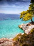 Coast, Skopelos Island Royalty Free Stock Images