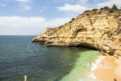 Coast with small beach in Algarve, Portugal Stock Photography