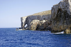 The coast of the small island of Comino in Malta Royalty Free Stock Images
