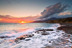 Coast of southern Crete. Royalty Free Stock Photography