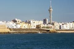 Coast of Cadiz. Coast of the Spanish city of Cadiz on a sunny day Stock Photography