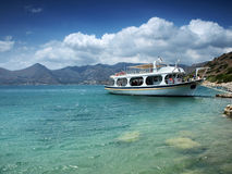 Coast of Spinalonga, Greece. Stock Photo