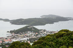 Coast of St Thomas from Hills Stock Images