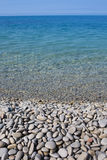 Coast with stones Royalty Free Stock Photo