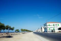 Coast street on Samos in Greece Royalty Free Stock Image