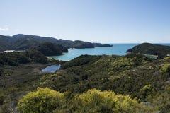 Coast with stunning beaches, New Zealand Stock Photo