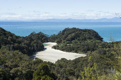 Coast with stunning beaches, New Zealand Royalty Free Stock Images