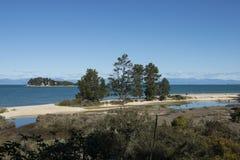 Coast with stunning beaches, New Zealand Royalty Free Stock Image