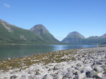 Coast. Summer day in Helgeland, North of Norway Stock Photography
