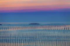 Coast sunrise scenery at Fujian, China Stock Images
