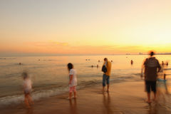 Coast in sunset Stock Photography