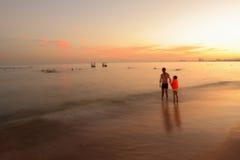 Coast in sunset Stock Photo
