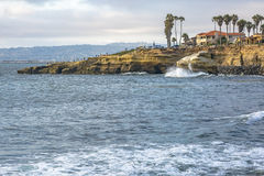 The coast of Sunset Cliffs California Stock Image