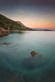 Coast during sunset in Krk, Croatia Royalty Free Stock Photo