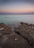 Coast during sunset in Krk, Croatia Stock Photos