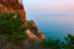 The coast sunset Royalty Free Stock Photos