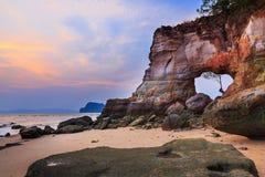 Coast in sunset Stock Photos