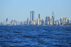 Coast of Surfers Paradise, Gold Coast. Houses and apartments along the coast and beaches at Surfers Paradise on Gold Coast, Queensland, Australia Royalty Free Stock Photography
