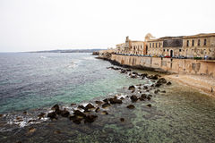 Coast in Syracuse. Mediterranean coast in Syracuse, Sicily, Italy Stock Images