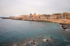 Coast in Syracuse. Mediterranean coast in Syracuse, Sicily, Italy Royalty Free Stock Photography