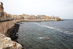 Coast in Syracuse. Mediterranean coast in Syracuse, Sicily, Italy Royalty Free Stock Photo