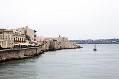 Coast in Syracuse. Mediterranean coast in Syracuse, Sicily, Italy Royalty Free Stock Images