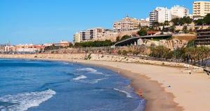 Coast of Tarragona in sunny spring day Royalty Free Stock Image