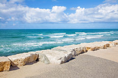 The coast of Tel Aviv Royalty Free Stock Image