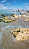 The coast of Tel Aviv Stock Photography