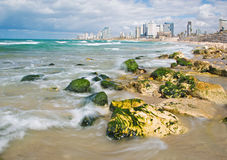 The coast of Tel Aviv Stock Photography