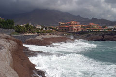 Coast in Tenerife. Volcanic coast in Tenerife Canary islands royalty free stock photos