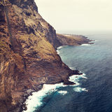 Coast of Tenerife near Punto Teno Lighthouse Royalty Free Stock Photo