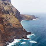 Coast of Tenerife near Punto Teno Lighthouse Royalty Free Stock Photography