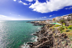 Coast of Tenerife small village. View on coast of Tenerife Island, Spain Royalty Free Stock Images