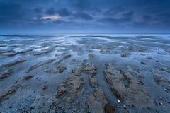 Coast texture at low tide Stock Photos