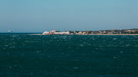 The coast of the `Thin Cape` at the open sea. Gelendzhik, Russia Royalty Free Stock Image