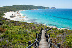 Coast Torndirrup National Park Albany Australia. Scenic panorama of cliff coast and Cable Beach at Torndirrup National Park, Albany, Western Australia, wild Stock Photo