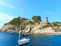 Coast of Tossa de Mar, Catalonia, Spain Stock Photography