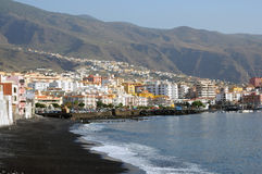 Coast of town Candelaria. Tenerife, Spain Royalty Free Stock Photo