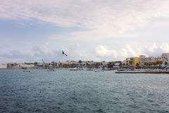 Coast town of Cozumel, port of call in Mexico Royalty Free Stock Photo