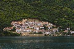 Coast Town on Kotorska Bay in Montenegro Stock Image