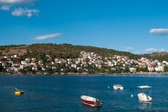 Coast of town Okrug Gornij Royalty Free Stock Photography
