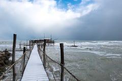 The coast of the Trabocchi Stock Photos