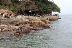 Coast trail of gulangyu island Royalty Free Stock Image