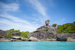 Coast of a tropical islands. Coast of one of the Similan islands Stock Image