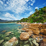 Coast of the tropical ocean - Thailand Royalty Free Stock Photos